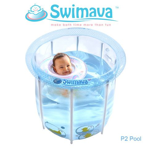 Favorite indoor Activity for Infant 1-14 mons . Swimava Baby Neck Ring Enhance Babies Bathing Experience. Proof to Improve baby's resting and eating pattern.