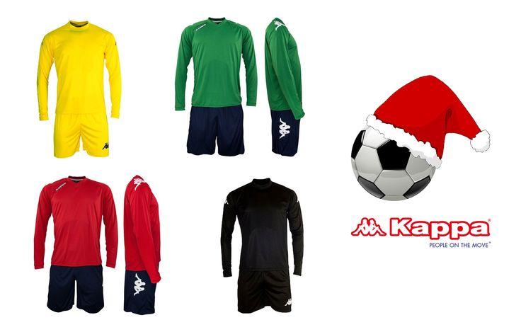 Il #Natale è passione: completi Kappa4Soccer personalizzabili con nome e numero, solo su #nanarossacom #regali #calcio #completi #maglia #pantaloncini