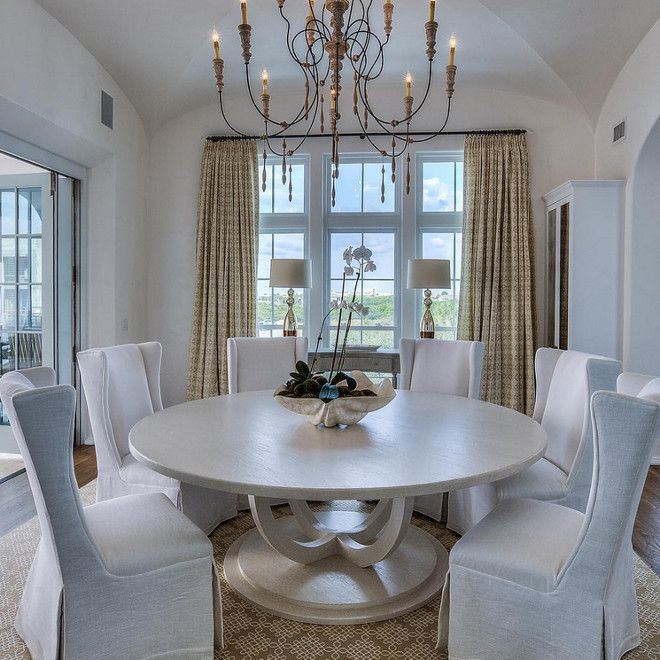 TABLE W/ 2 LAMPS & DRAPES Interior Design Ideas