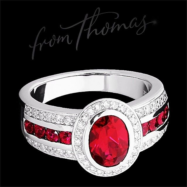 Can you believe it's July already?! If you've got a July birthday then ruby is your modern birthstone. The fiery shades will warm your winter, perfect with black, greys  denim. Available #fromthomas in store or online www.thomasjewellers.com.au #thomasjewellers