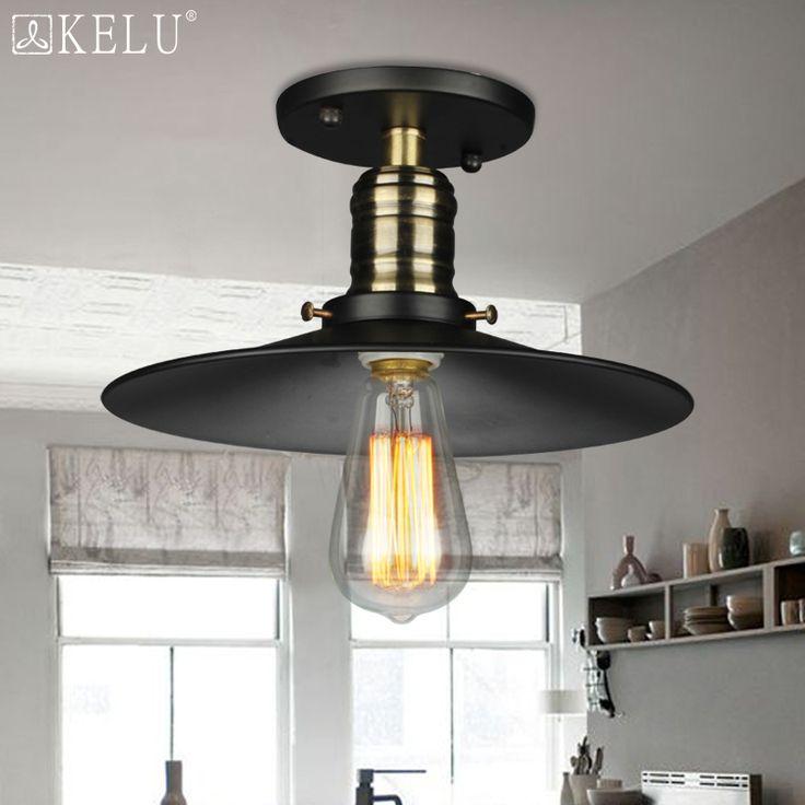 vintage rh loft copper base edison led bulb iron shade ceiling hanging industrial pendant lamp light