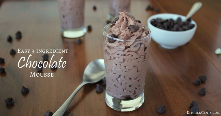 This 3-Ingredient Chocolate Mousse is light, chocolate-y, smooth and whips up in less than 5 minutes. It's a perfect dessert for any night of the week!