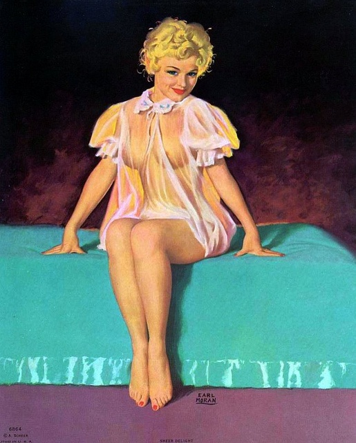 EARL MORAN~ Sheer Deligh - Marilyn Monroe modeling