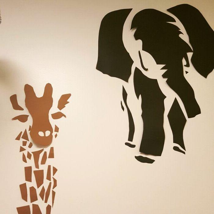 """11 gilla-markeringar, 3 kommentarer - Magdalena (@magdalena_bakar) på Instagram: """"#adlibrisdiy_barnrum @adlibrisdiy Vad passar bättre i barnrummet än djur på väggen till två…"""""""