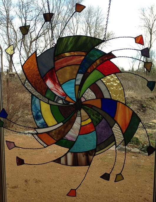 Eye Of The Storm Stained Glass Mosaic Swirl - Delphi Artist Gallery
