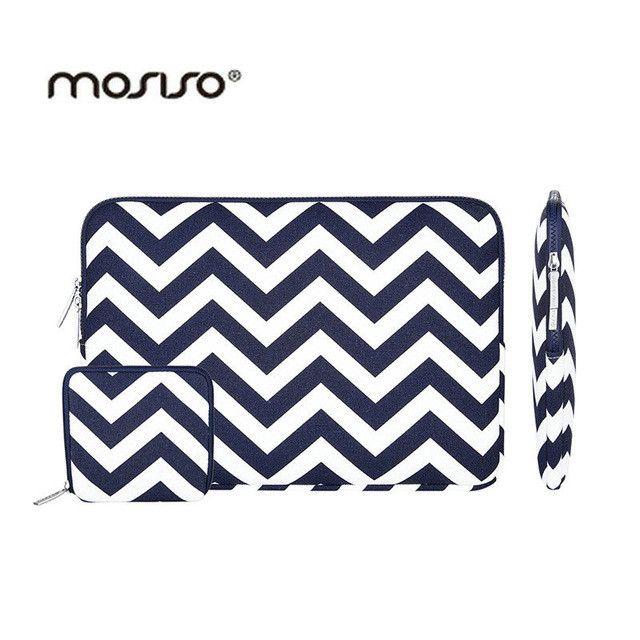 MOSISO Canvas 11 13 14 15 inch Portable Zipper Sof…