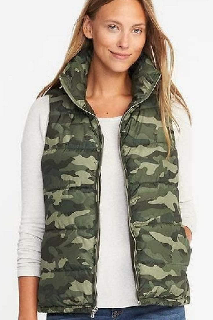 The perfect fall camo jacket outfit.  #ad