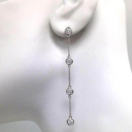Diamantohrringe mit 1.60 Karat Diamanten aus 585er Gold   #diamant #ohrstecker #gold #diamanten #brillanten #diamantschmuck #diamantohrringe