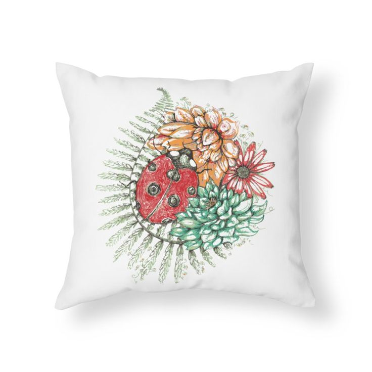 Ladybug on flowers by szjdesign's Artist Shop