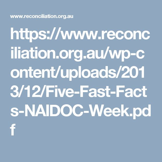 Fast facts about NAIDOC week