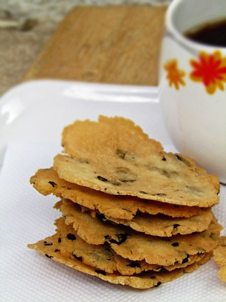 Homemade Rice Cracker with Nori « Tes at Home