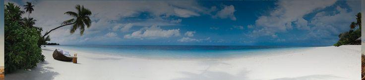 White beaches, blue waters