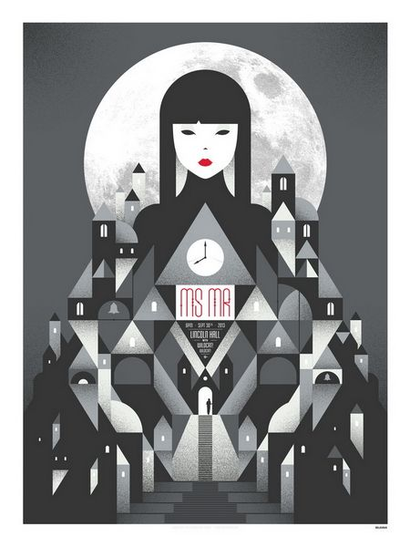 MS MR concert poster by Delicious Design League
