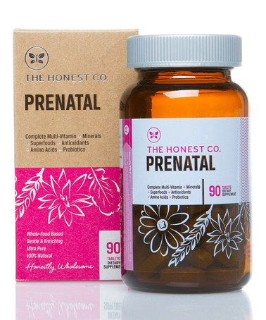 Take a look at this Organic Prenatal Vitamins by The Honest Company on #zulily today!. I love that these are 100% free of gluten, soy, antibiotics and many many more gross things ;)