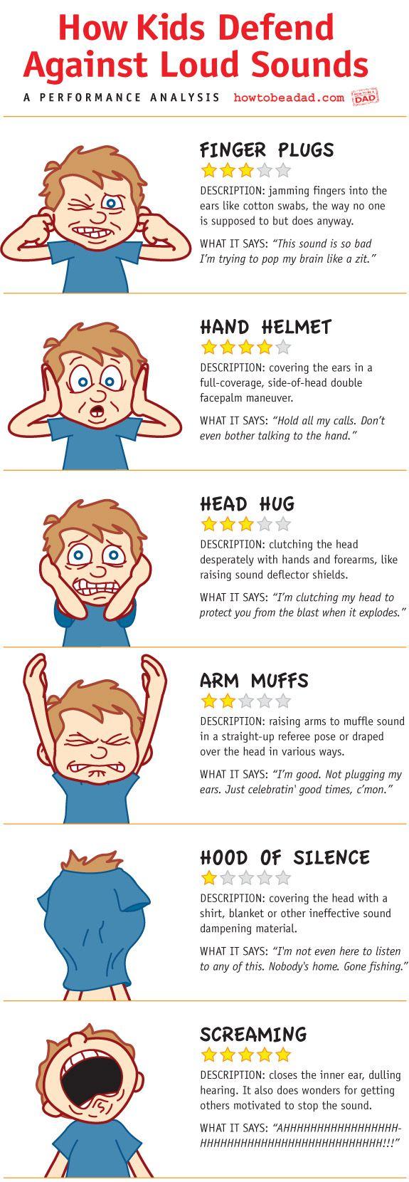 How Kids Defend Against Loud Sounds #spd #autism #genius @HowToBeADad.com nails it!