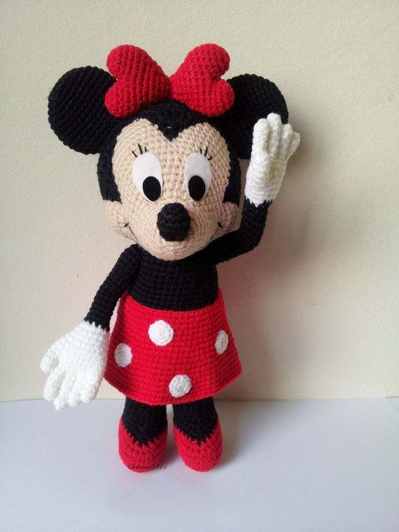 Minnie Mouse 9 Handmade crochet doll birthday por Solutions2511
