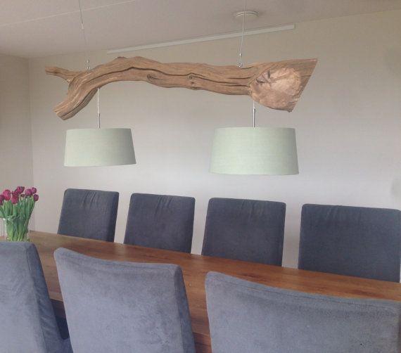 Plafondlamp of boomstam lamp vervaardig van door GBHNatureArt