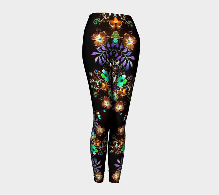 Go from Yoga to dinner in this body hugging printed legging by AtelierBaba. Compression fit performance fabric milled in Montreal. Made to last, this fabric won't lose shape and our vibrant prints never fade. Opaque, safe to wear for working out. Lovely.