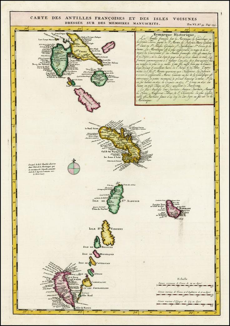 Carte des Isles Antilles 1719