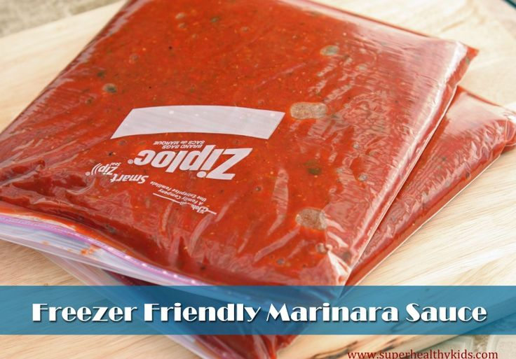 Freezer Friendly Fresh Marinara Sauce | Healthy Ideas for Kids