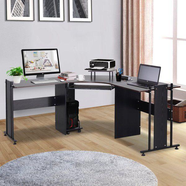 L Shaped Corner Computer Desk Gaming Home Office Modern 3 Piece 170 210 Modern Home Office Desk Home Home Office Furniture