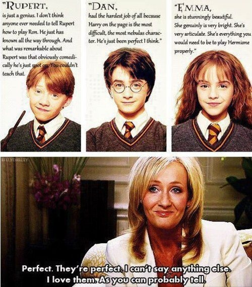 JKR talking about three of the most amazing people ever