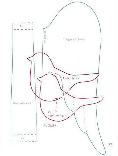 Free Printable Tilda Pattern | Pattern TILDA BIRD