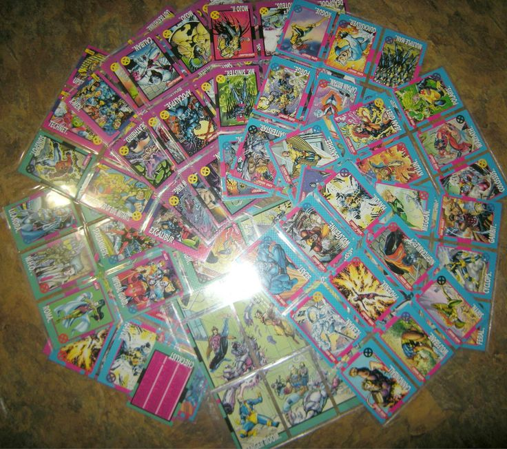 Marvel 1992 Trading Card Set (1-100) + 19 Duplicates, Impel, in plastic sleeves