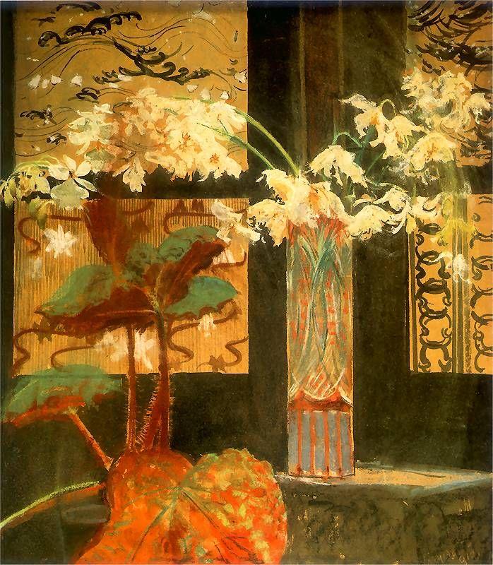 ❀ Blooming Brushwork ❀ - garden and still life flower paintings - Leon Jan…