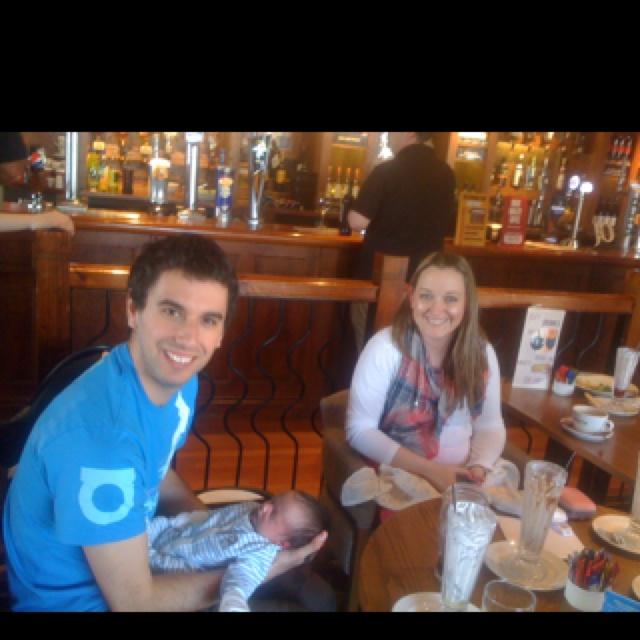 Laura, Jon and brand new baby William