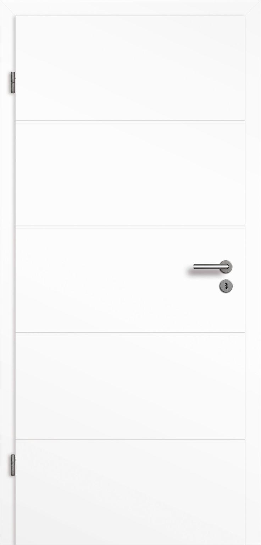Zimmertür Weißlack Straight 10-5