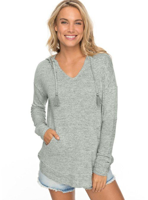 ba56666af76d Roxy Women s Cozy Chill Pullover Hoodie (Olive Heather) - Pullover hoodie  that is soft cotton. Perfect for fall and spring weather.