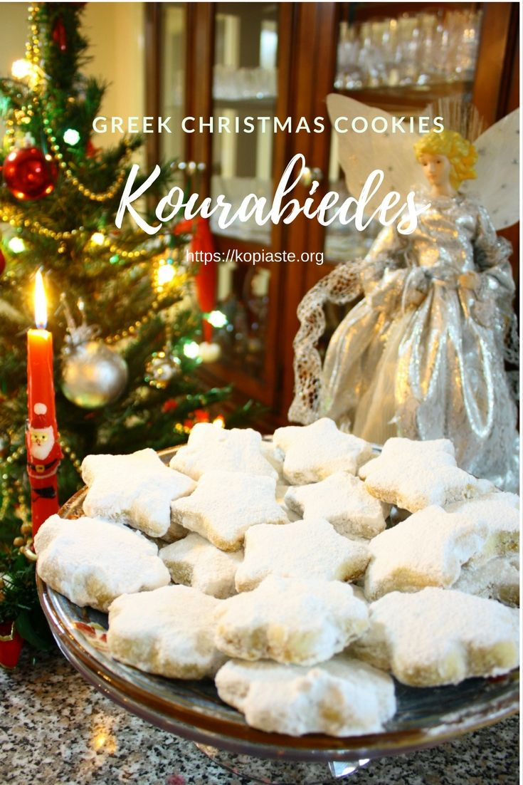 These melt in your mouth kourabiedes (Kourabies (pl. kourabiedes, pronounced kou-rah-be-EH-thez), as most of you, who follow my blog, must know by now, are the Greek shortbread cookies  made during Christmas.