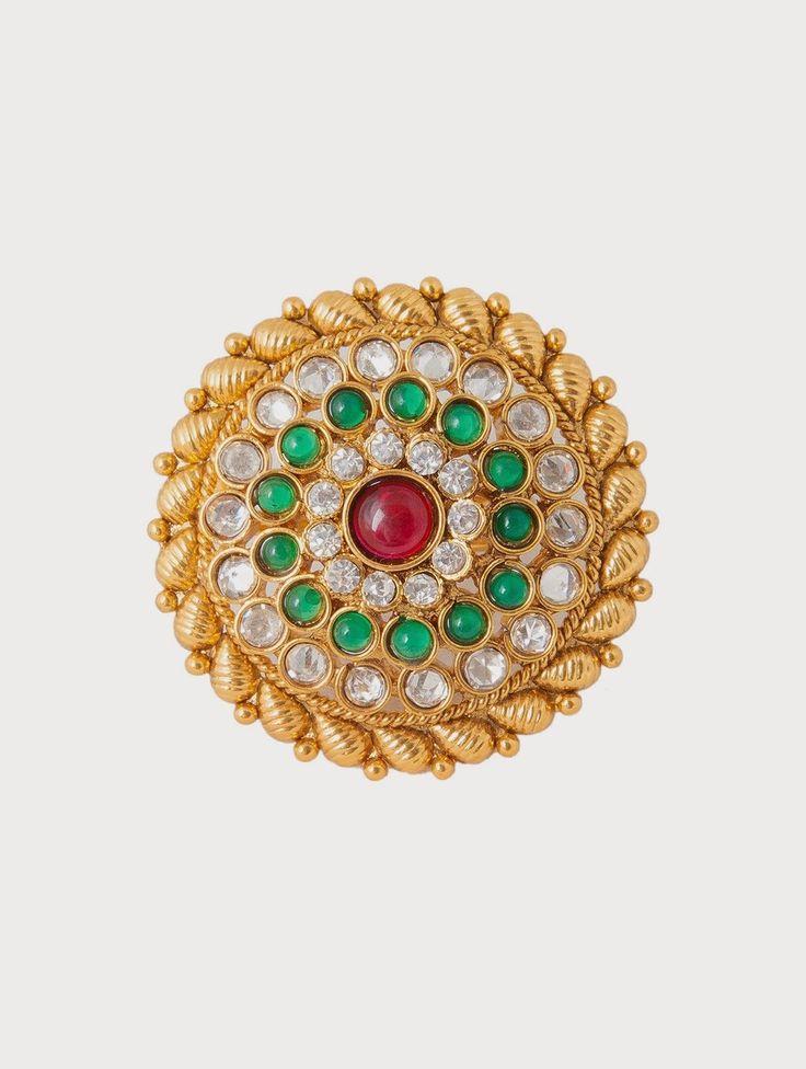 #White & Gold Metal Alloy #Ring  @mokshafashions  #Ring #love #lovegift #fashion #jewellery #vintage #wedding #gifts #giftideas #Flat20