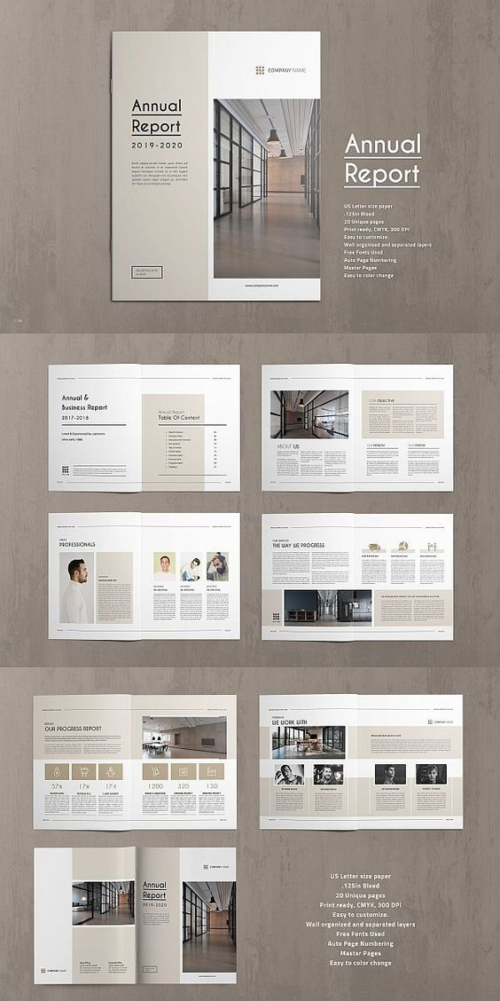 10 Annual Report Brochures Templates