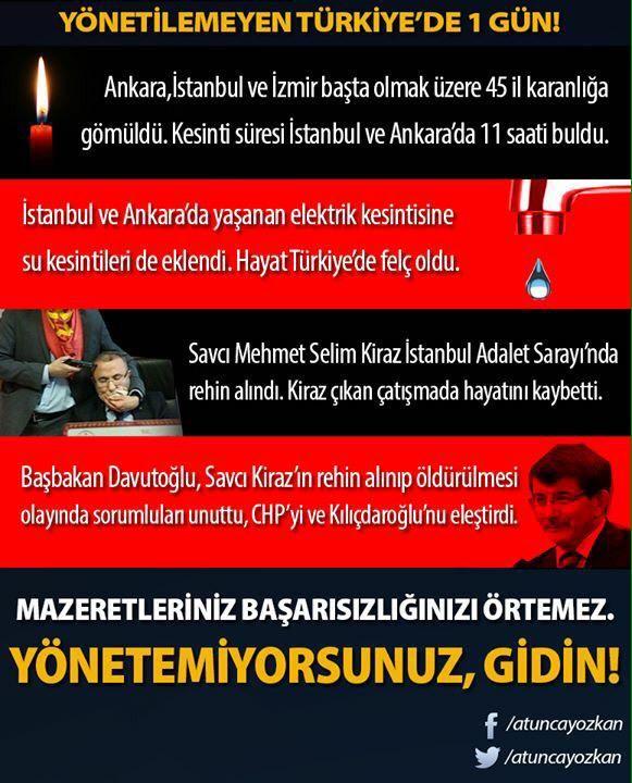 Yönetilemeyen Türkiye'de 1 Gün! Mazeretleriniz başarısızlığınızı örtemez! Yönetemiyorsunuz, gidin!