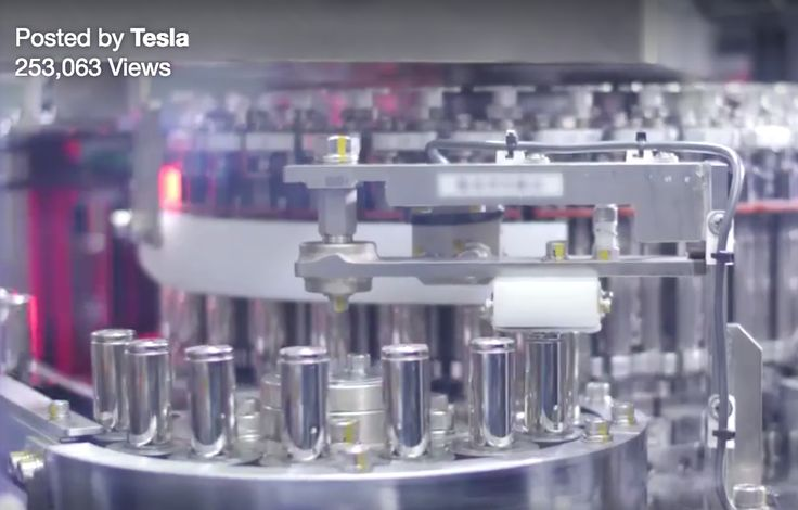 Tesla Video Of Battery Cell Production At Gigafactory