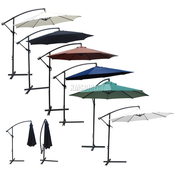 FoxHunter 3m Garden Parasol Patio Sun Shade Banana Hanging Crank Umbrella Green. Garden & plants > Outdoor Garden Furniture. Umbrella with crank handle and stand&#x3b;. With the crank and the safety pin, can adjust the tilt angle of the parasol easily&#x3b;.   eBay!