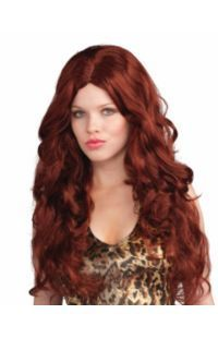 check out deluxe red sultry wig womens halloween wigs accessories from costume super center - Red Wigs For Halloween