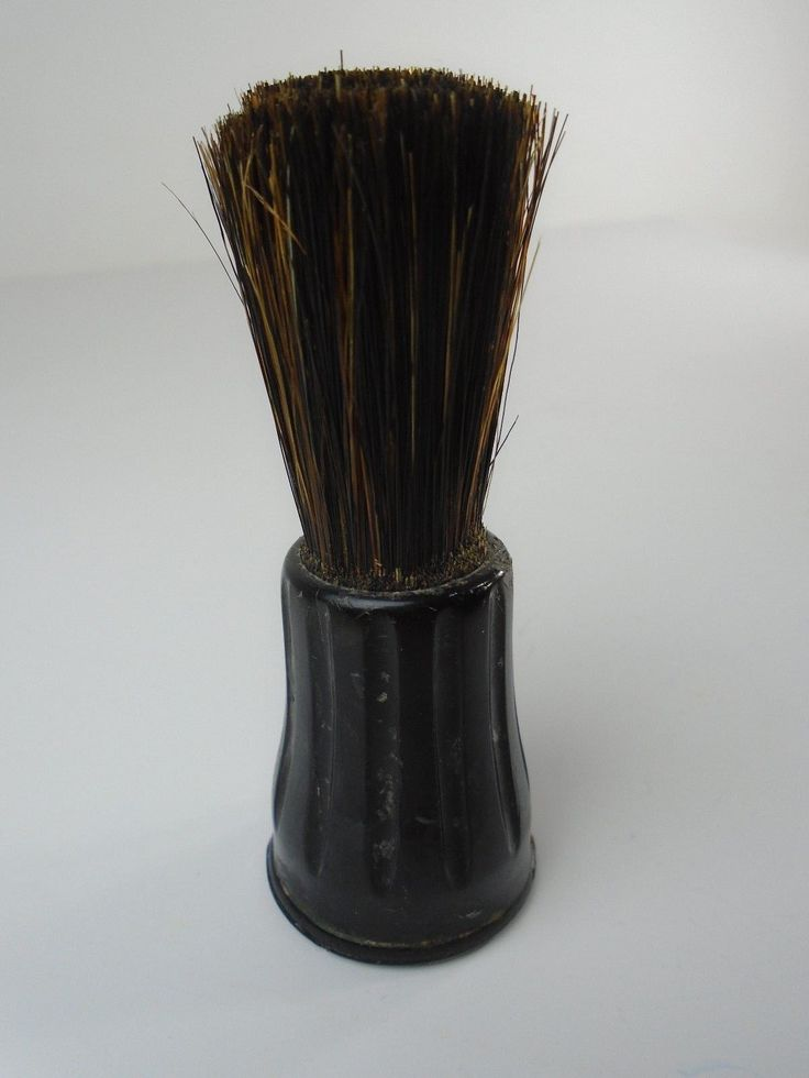 Vintage Ever Ready Shaving Brush Black Bakelite Handle Sterilized Beard Barber