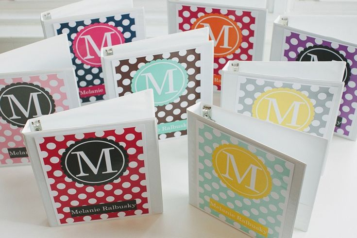 Monogram Binder Covers Would look cute for next year!