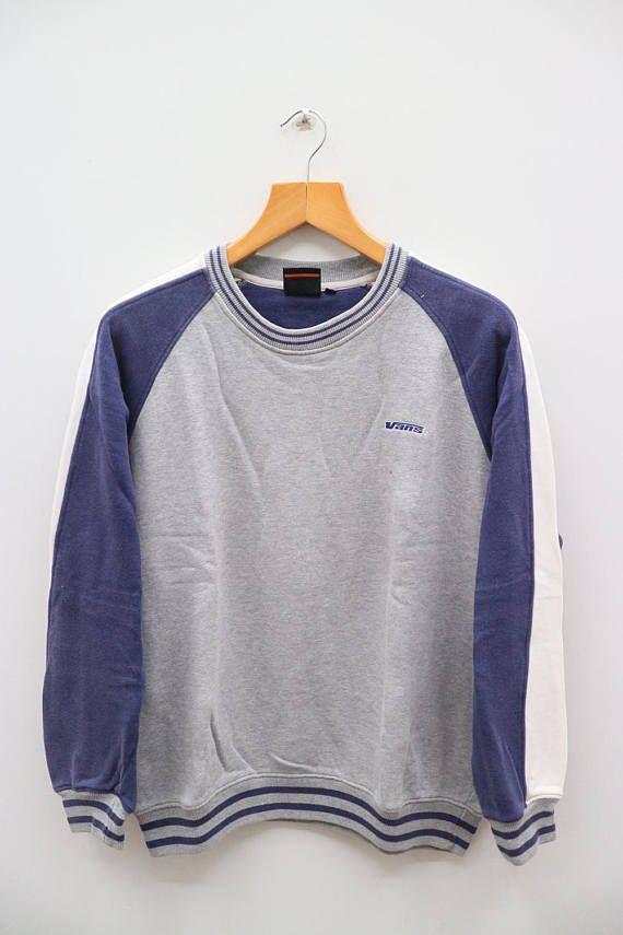 86f4017532 Vintage VANS Small Logo Sportswear Gray Sweatshirt Sweater