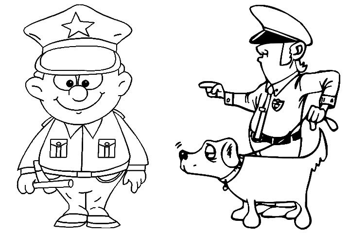 police officer coloring page - 10 best police police car coloring pages your toddler
