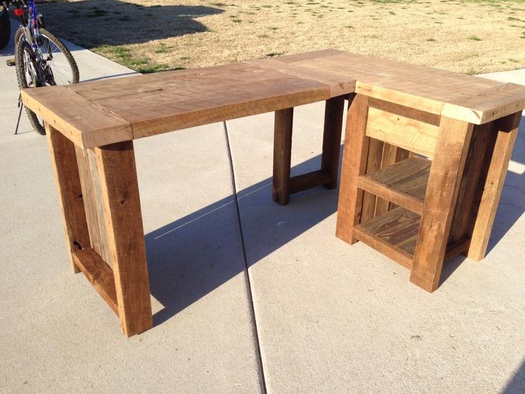 L Shaped Desk Wood