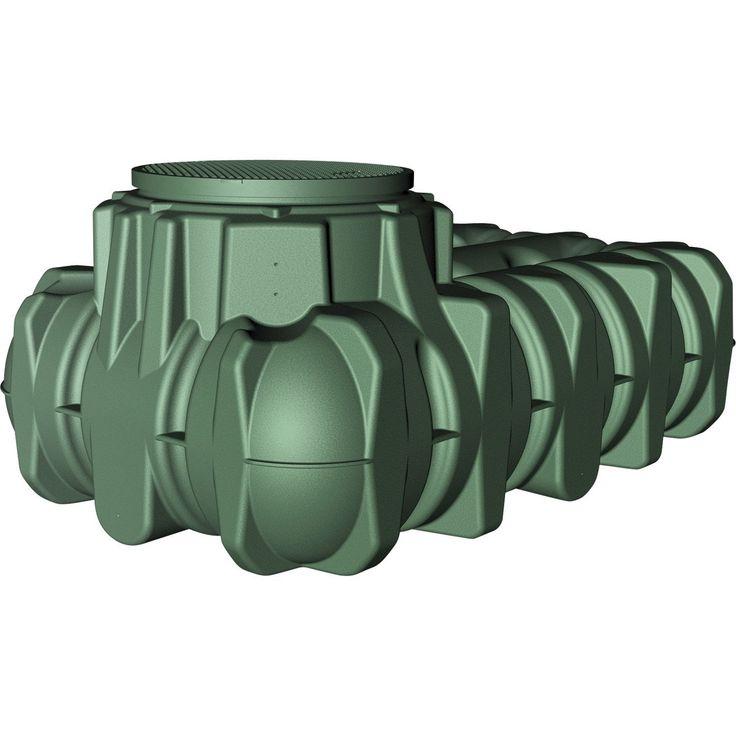 Cuve de récupération d'eau de pluie à enterrer extraplate vert 5000 l GARANTIA GRAF