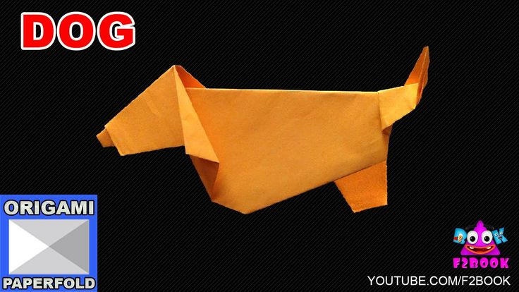 Origami Dog Folding Instructions || How to Make an Origami || F2BOOK Vid...