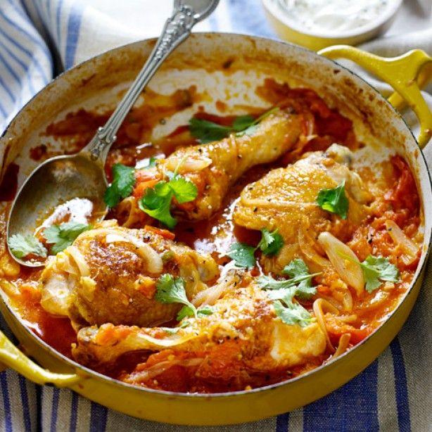 Tomaten Kipcurry van Jamie Oliver