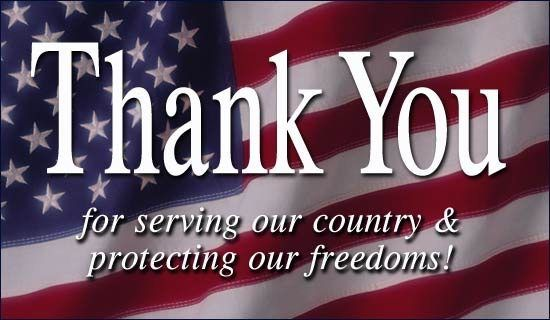 Thank you to all who have served and those that continue to serve.