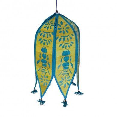 Blue Lamp Shade / Toran Indian Cutwork Bamboo Kandil Ethnic Garden Decoration
