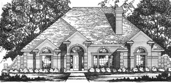 Traditional House Plan 77731 Elevation